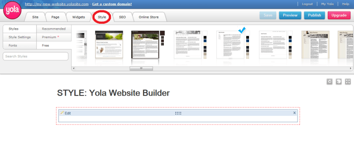 how to create a website using yola