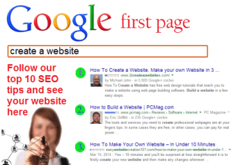 top SEO tips to get on the First Page of Google in 2014