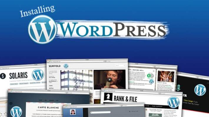installing WordPress onto your hosting