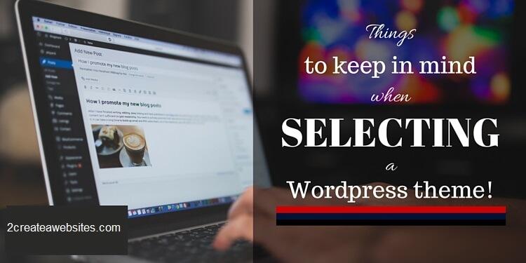 selecting a WordPress theme